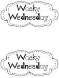 Wacky Wednesday hat