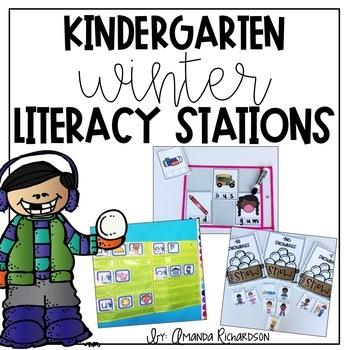 Kindergarten Winter Literacy Work Stations