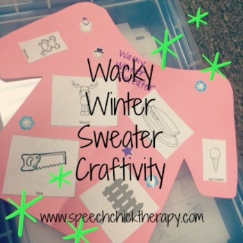 Wacky Winter Articulation Craftivity