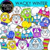 Wacky Winter Clipart {Winter Clipart}