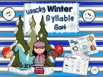Wacky Winter Syllable Sort