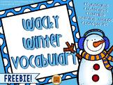 Wacky Winter Vocabulary {FREEBIE}