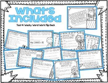 Wacky Word Work Activities Kit