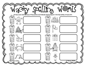 Wacky Word Work!!! {Happy Birthday, Wacky Cat}