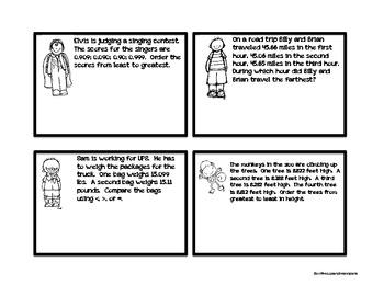 Wacky Wordies:  Decimal Word Problems, Task Cards