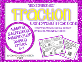 Wacky Wordies Fraction Word Problem Task Cards with QR Codes