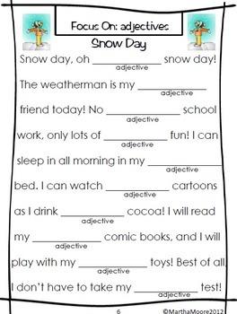 Parts of Speech Practice: Wacky Words for All Seasons BUNDLE