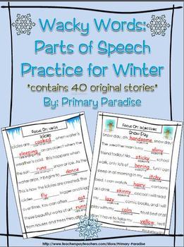 Parts of Speech Practice: Wacky Words for Winter