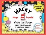 WACKY Write the Room MEGA BUNDLE - 12 Rhythmic & Melodic Games!