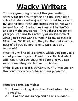Wacky Writers