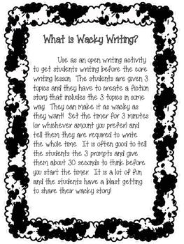 Wacky Writing