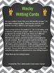 Wacky Writing Cards: December