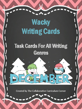 Wacky Writing Cards: December