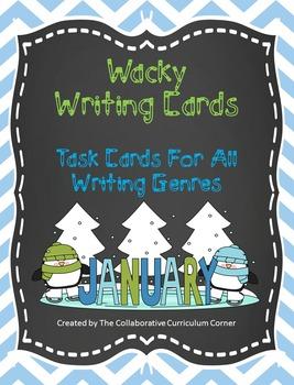 Wacky Writing Cards: January