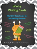 Wacky Writing Cards: Monthly Task Cards for All Writing Genres