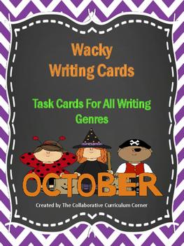 Wacky Writing Cards: October