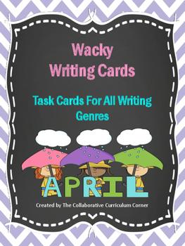 Wacky Writing Cards: April