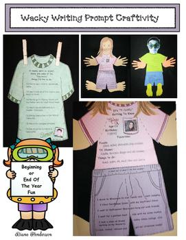 "Wacky Writing Prompt Craft (Great for a Seuss-Week ""Wacky Wednesday"")"