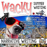 Narrative Writing - Summer Writing Task Cards - Summer Wri