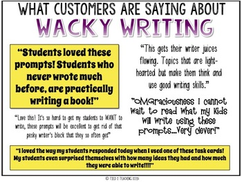 Narrative Writing - Writing Task Cards - Standards Based Writing
