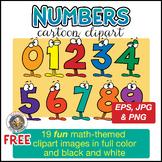 Wacky Cartoon Numbers Clipart