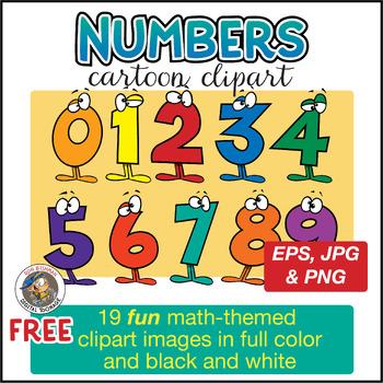 wacky cartoon numbers clipart by ron leishman digital toonage tpt rh teacherspayteachers com Spring Clip Art for Teachers Educational Clip Art for Teachers