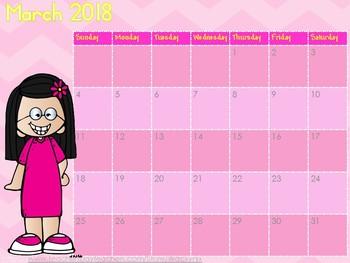 WackyNix 2018 Colour calendar