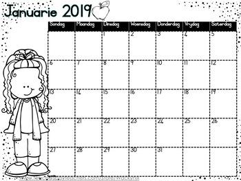 WackyNix 2019 Kalender (Afrikaans)