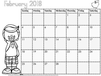WackyNix Black and white 2018 Calendar