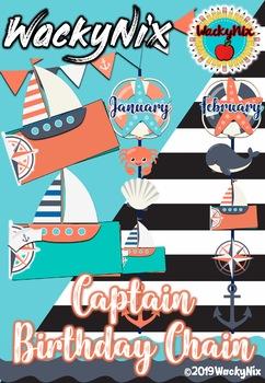 WackyNix Captain Birthday Chain