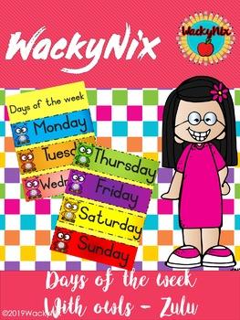 WackyNix Days of the week in Zulu