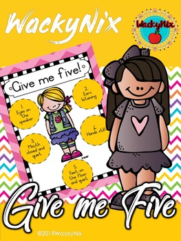 WackyNix Give me five poster