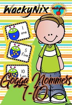 WackyNix Gogga getalle 1-10