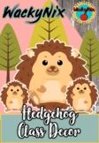 WackyNix Hedgehog Class Decor
