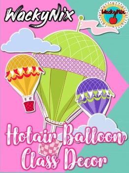 WackyNix Hot-air-balloon Class Decor
