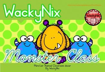 WackyNix Monster Class Decor Pack