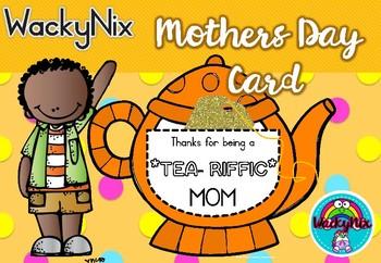 WackyNix Mothersday Teapot Card