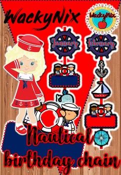 WackyNix Nautical Birthday Chain