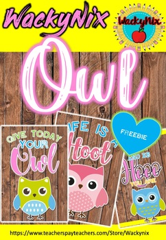 WackyNix Owl Quotes freebie