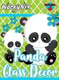 WackyNix Panda Decor