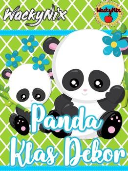 WackyNix Panda Klas Dekor
