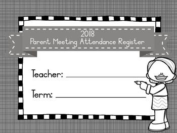 WackyNix Parent Meeting Attendance Register 2018 bw