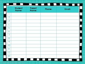 wackynix parent meeting attendance register by wackynix tpt