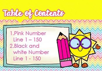 WackyNix Pink Number line