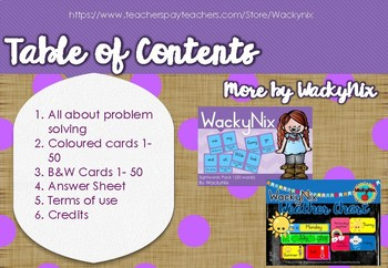 WackyNix Problem Solving - Addition and Subtraction