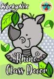 WackyNix Rhino Class Decor