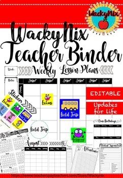 WackyNix Teacher Binder