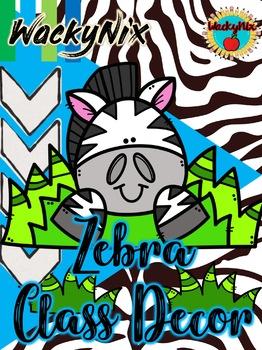 WackyNix Zebra Classroom Decor