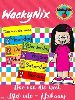 WackyNix dae van die week poster A3