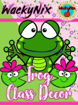 WackyNix frog classroom decor pack